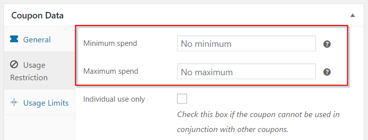 Woocommerce how to manage coupons on your store learnwoo setting minimum and maximum spend fandeluxe Choice Image