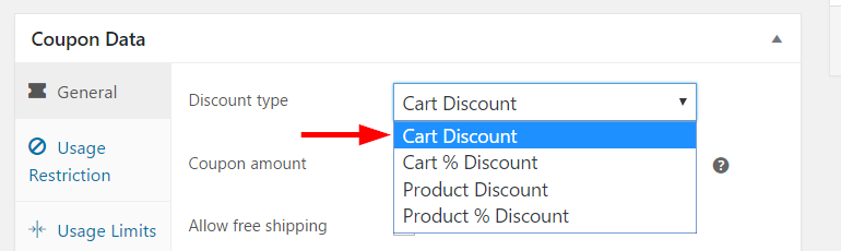 Woocommerce how to manage coupons on your store learnwoo setting discount type fandeluxe Choice Image